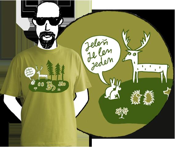 Pánske tričko Jelenček