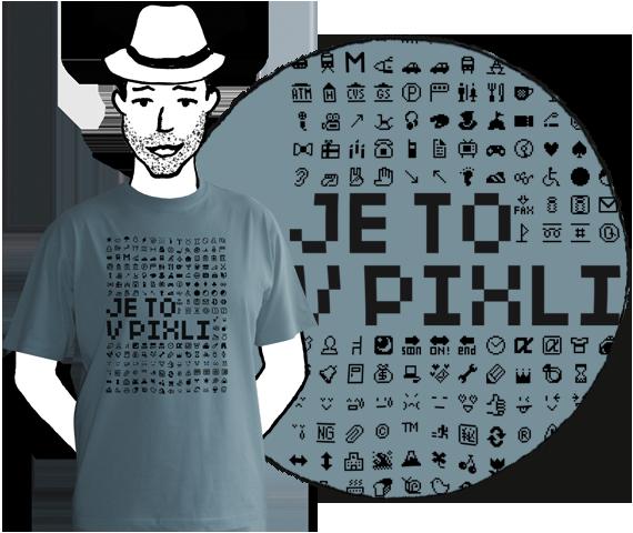 Pánske tričko PIXLE