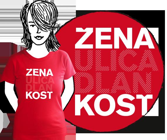 Dámske tričko Žena kosť RED