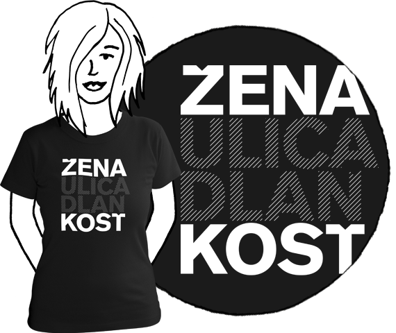 Dámske tričko Žena kosť