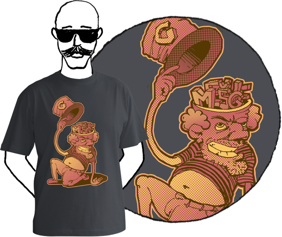 Pánske tričko Mešuge head