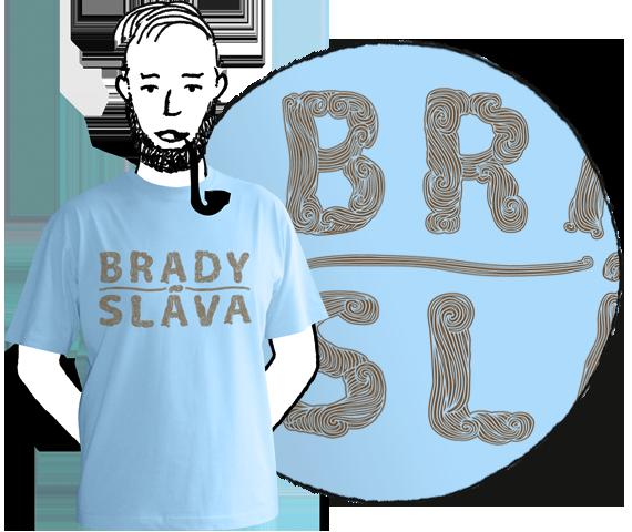 Pánske tričko Bradysláva