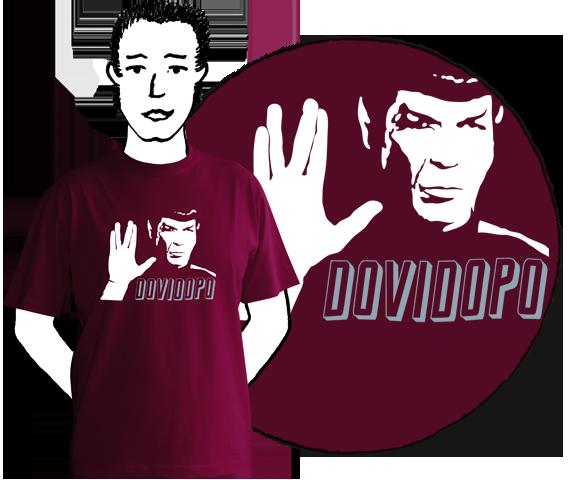 Pánske tričko Dovidopo Burgundy