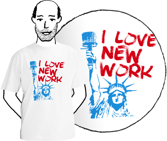 Pánske tričko I love new work white