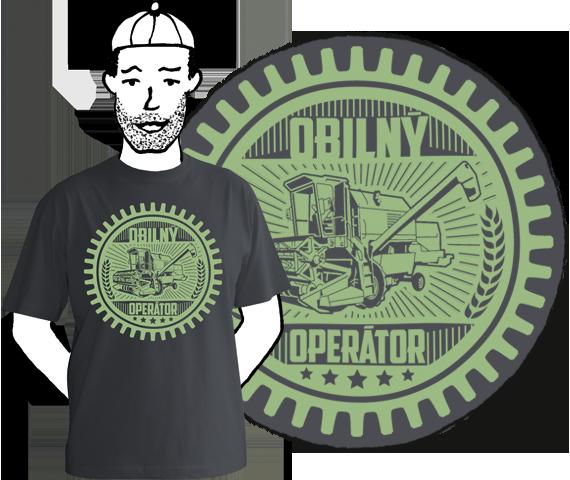 Pánske tričko Obilný operátor