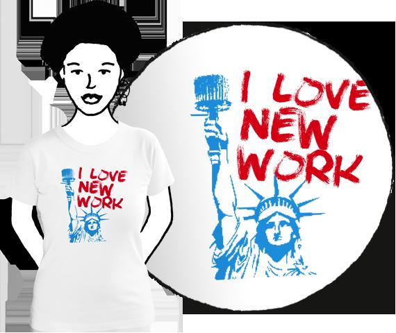 Dámske tričko I love new work