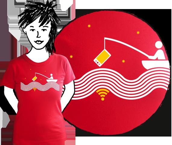 Dámske tričko Starec a wifi