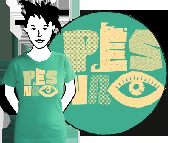 Dámske tričko Pes na oko