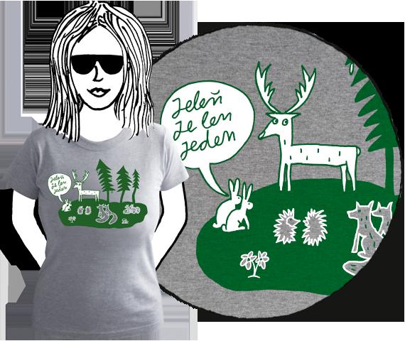 Dámske tričko Jelenček