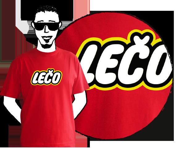 Pánske tričko Lečo Red
