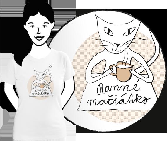 Dámske tričko Mačiátko